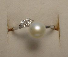 Adjustable Freshwater Pearl with Sterling Silver Ring up to size 8