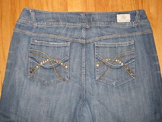of Peace Womens Size 16 Capri Cropped Jeans Metal and Stitching