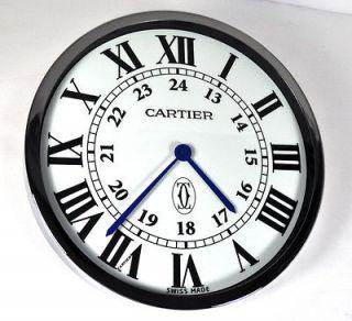 ronde solo de cartier showroom display wall clock swiss excellent