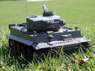 16 RC Henglong Smoke & Sound German Tiger I Tank Metal Gear Version