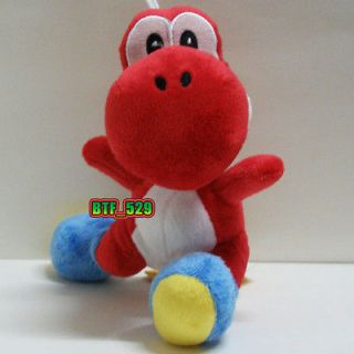 new super mario brothers plush figure 7 red yoshi from