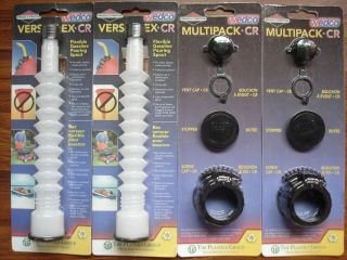 Versaflex Replacement Gas Can Spouts + 2 Multipack Kits WEDCO BRIGGS