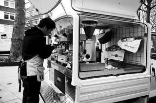 piaggio ape 50 cc from coffee latino coffee van mobile