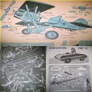 vintage airplane pedal car sidewalk tractor plans 13s time