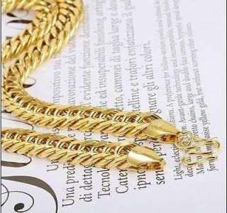 Thick 24K Yellow Gold Filled GF Cool Mens Curb Necklace Chain 20 69G