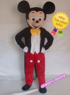 Brand New Mickey Mouse Mascot Costume Foam Head Adult Size ★ Fast