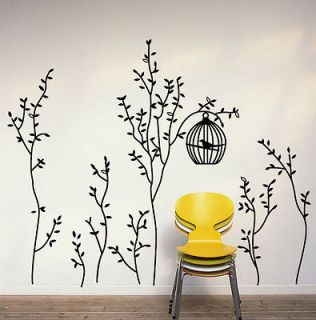 Newly listed B New Cute Bird Cage&Trees Removable Wall Sticker Decals