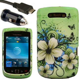 Case+Car Charger for Blackberry Torch 9800 9810 H AT&T T Mobile 4G