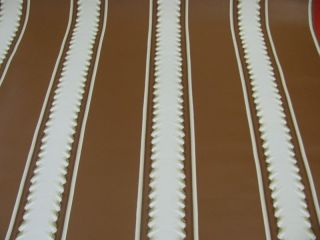 BRUNSCHWIG & FILS BROWN/TAN LASAGNA STRIPE WALLPAPER  $45 PER TRIPLE