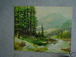 vintage robert wood print mountain stream look time left $