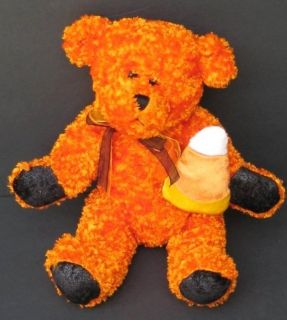 CANDY CORN TEDDY BEAR Plush HALLOWEEN Orange DAN DEE Stuffed Animal