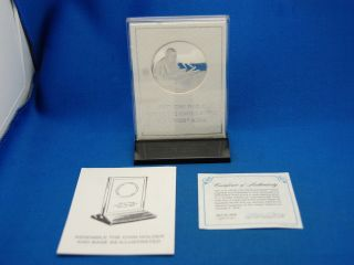 Sterling Silver Pope John Paul ll United Nations Address Commerative