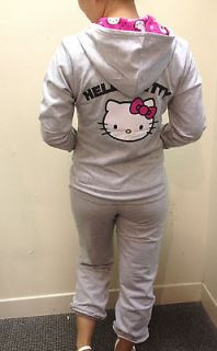 Hello Kitty Hoodie in Gray with Pink Lining in hood By Sanrio