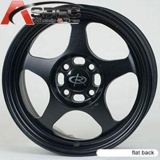 rota slipstream 15x7 4x100 et40 flat black rim wheels