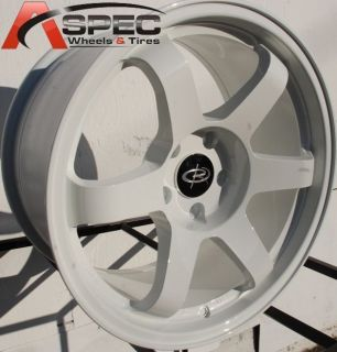 17X9 ROTA GRID WHEELS 5X100 WHITE RIMS 35MM FITS TOYOTA MATRIX 2003