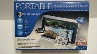 newly listed smartparts portable picture and video player time left