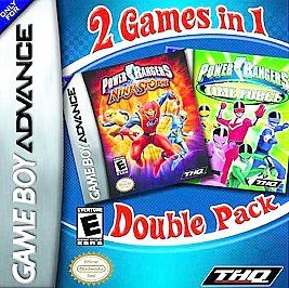 Power Rangers Time Force Ninja Storm Double Pack Nintendo Game Boy