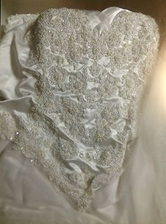 Plus Size Beaded Tulle Wedding Dress Preserved & Cleaned 20 22 2X 3X
