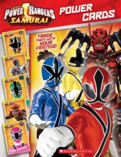 Power Rangers Samurai Power Cards by Scholastic 2012, Paperback