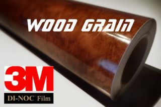 3M DI NOC WG 364GN WOOD GRAIN MAHAGONY Vinyl Film Sheet 12x24