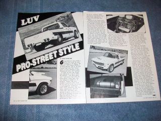 1972 chevy luv truck article luv pro street style time