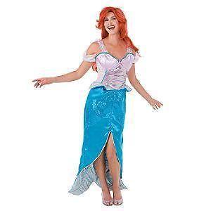 disney adult little mermaid ariel costume small 4 6