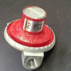 propane hp regulator 12psi for cookers smokers torch time left