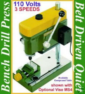 proxxon 38128 mini bench drill press machine high speed time