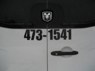 large phone number vinyl car business decal sticker 13 time