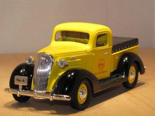 shell oil 1937 chevy pickup 1 25 liberty 12530 time