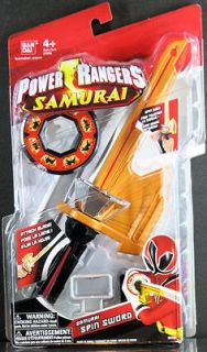 power rangers samurai spin sword new sealed 31591 one day