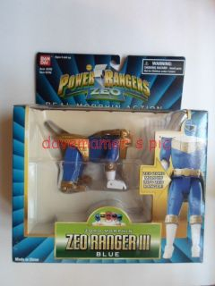 Power Rangers Zeo Real Zord Morphin ZEO RANGER III Blue Sealed white