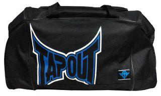Tapout Black Blue Print School Gym MMA Workout UFC Workout Duffle