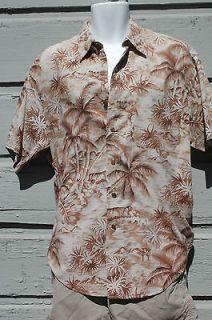 RALPH LAUREN Cotton Linen Aloha HAWAIIAN Shirt vintage chaps