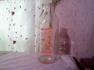1951 SPRING GROVE DAIRY ONE QUART GLASS MILK BOTTLE DURAGLAS OWENS