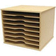 beyond the page mdf scrapbooking paper storage unit time left