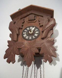 OLD GERMAN CUCKOO CLOCK BLACK FORREST PARTS CLOCK GOOD CONDITION