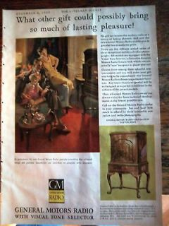 1930 gm general motors queen anne radio phonograph ad time