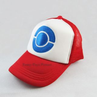 new pokemon ash ketchum costume cosplay cap hat from hong