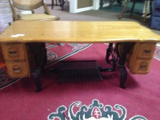vintage sewing machine cabinet coffee table singer white time left