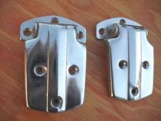 40s 50s Antique Old ICE BOX DOOR HINGES Chrome Icebox Fridge Hardware