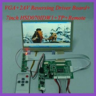 driver board + 7inch HSD070IDW1 800×480 lcd panel+Touch Screen+Remote