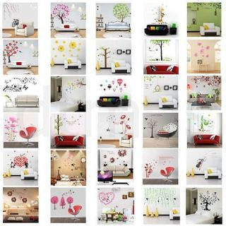 Sweet Home Tree Birds PVC Removable Kids Room Art Mural Wall Sticker