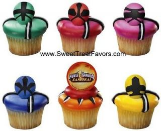 POWER RANGERS CupCake Topper Party Favors Supplies x6 Cake Samurai