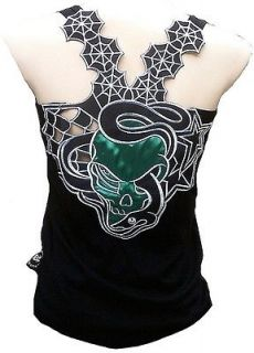 Punk Rock Baby SNAKE GOTHIC SKULL Tattoo Designer TANK TOP SHIRT XS/S