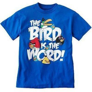 angry birds short sleeve shirt tee mens blue s m l xl