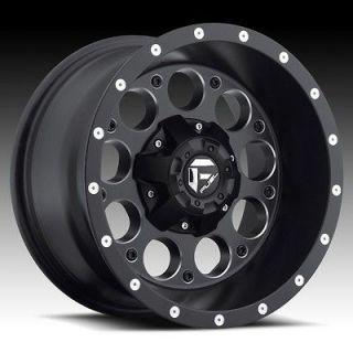 17 inch 17x9 Fuel Revolver black wheel rim 5x5.5 5x139.7 Bronco FS RAM