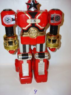 Bandai MMPR Power Rangers Zeo Deluxe Red Battlezord Megazord 100%