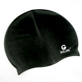 silicone swimming cap w bag swim gear comfort new black