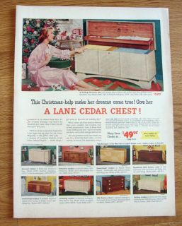 1953 lane cedar hope chests ad time left $ 4